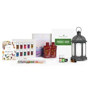 Charcoal Lanterne diffuser og 12 essensielle oljer